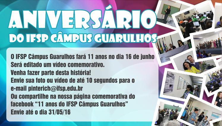 Aniversário do IFSP Câmpus Guarulhos