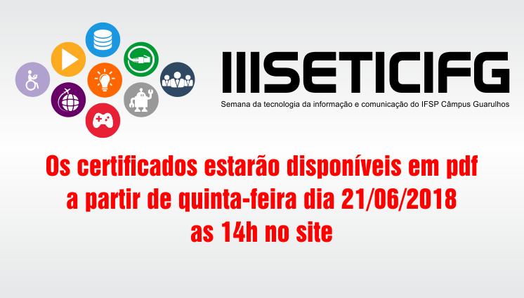 Certificados SETICIFG 2018