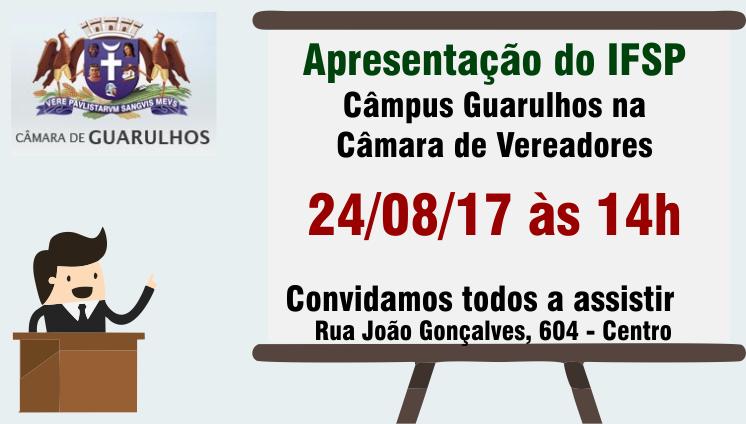 Apresentação do IFSP Câmpus Guarulhos na Câmara de Vereadores