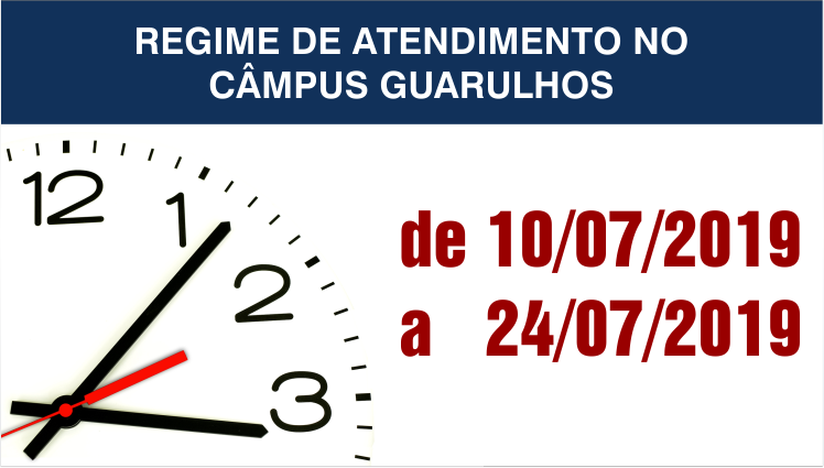 Regime de atendimento no Câmpus Guarulhos