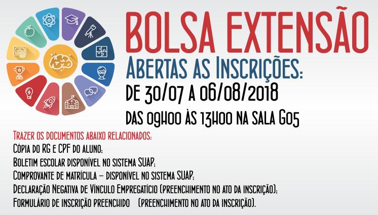 Bolsa Extensão - 2º Semestre de 2018