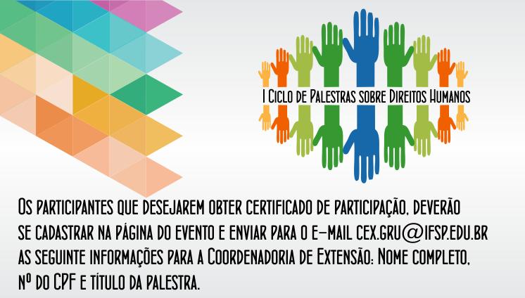 I Ciclo de Palestras sobre Direitos Humanos