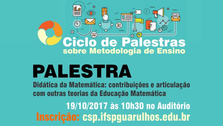 Ciclo de Palestra sobre metodologia de ensino