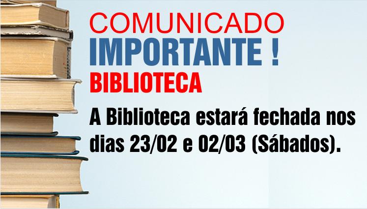 Comunicado Importante - Biblioteca