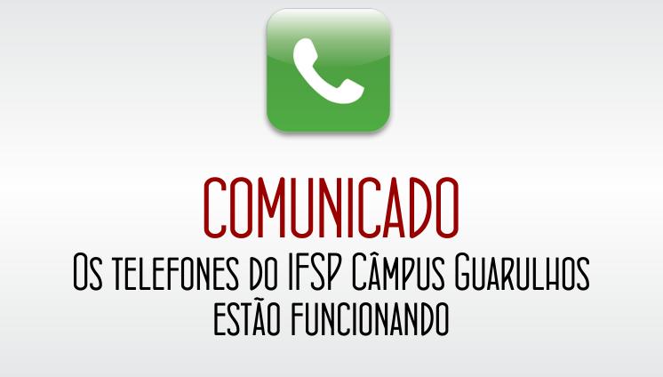 Comunicado Importante - Telefones Funcionando
