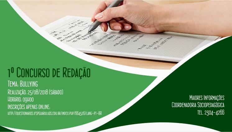 1º Concurso de Redação do IFSP - Câmpus Guarulhos