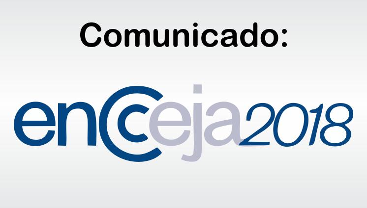 Comunicado: Encceja 2018