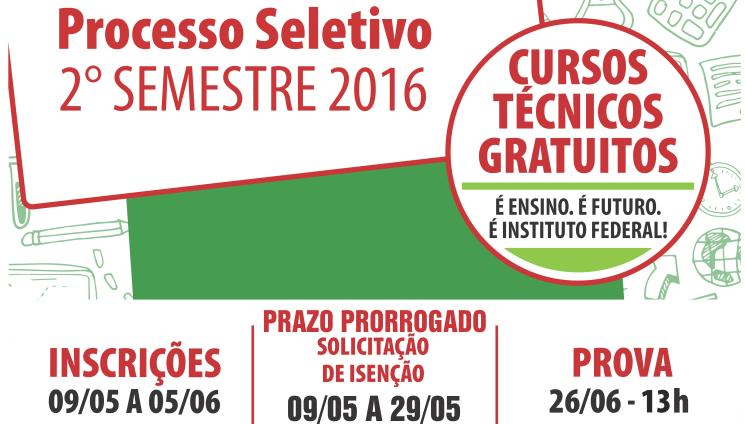Processo seletivo - 2 semestre 2016