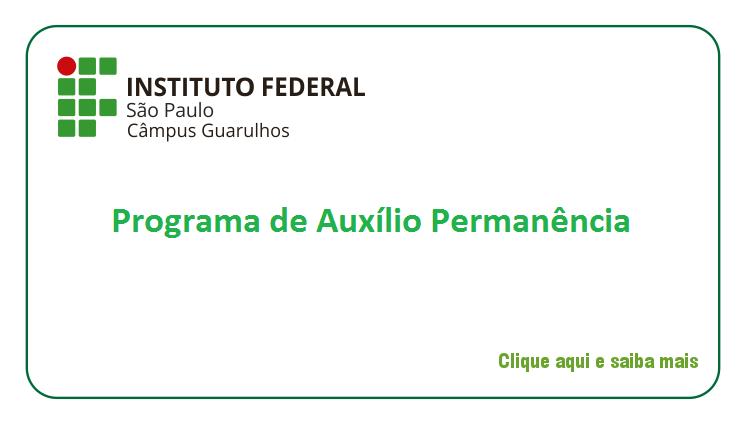 PROGRAMA DE AUXÍLIO PERMANÊNCIA