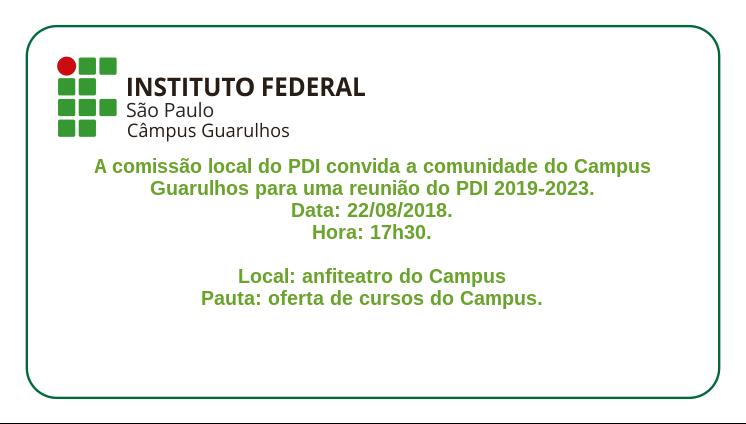 Reunião do PDI 2019-2023