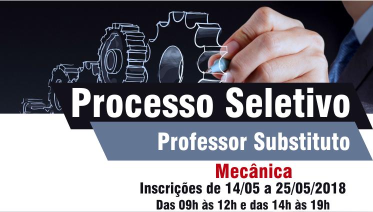 Processo seletivo - Professor substituto - Mecânica