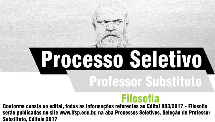 Processo seletivo - Professor substituto - Filosofia