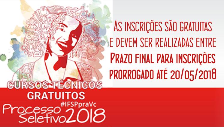 Processo seletivo - Cursos técnicos - 2º semestre de 2018