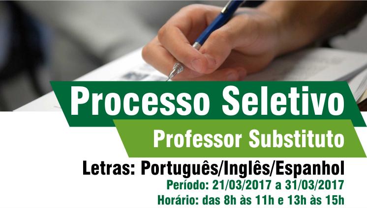 Processo seletivo - Professor substituto