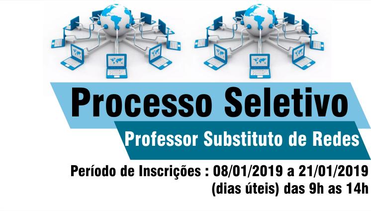Processo Seletivo para Professor Substituto - Informática - Rede de Computadores