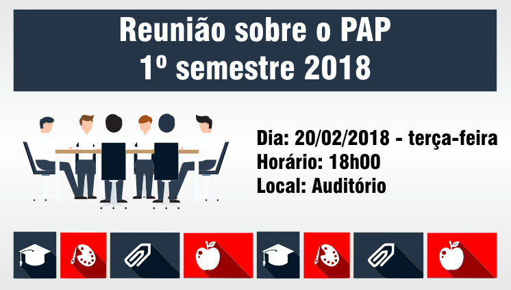Reunião sobre o PAP - 1º semestre 2018