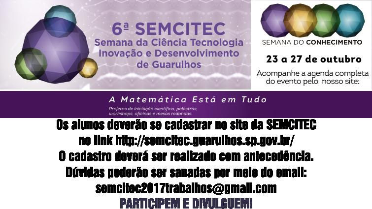 SEMCITEC 2017 - Cadastro / Programação